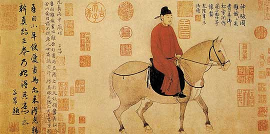 China Painting Man-on-Horse